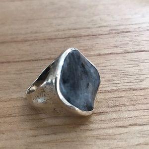 Silpada Gray Stone Ring, Sterling Silver
